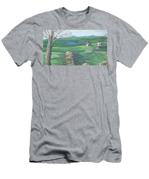 Cows In Field Men's T-Shirt (Athletic Fit)