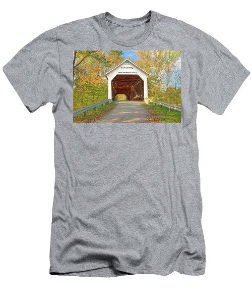 Cox Ford Covered Bridge Men's T-Shirt (Slim Fit) by Harold Rau