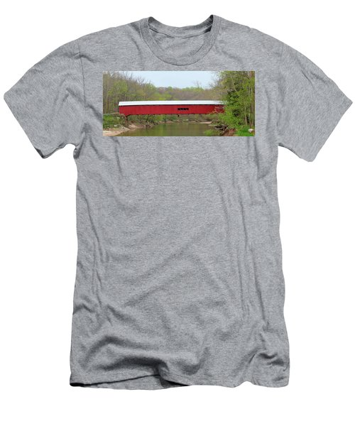 Cox Ford Covered Bridge - Sideview Men's T-Shirt (Slim Fit) by Harold Rau