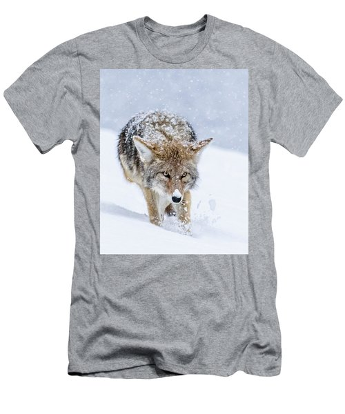 Coyote Coming Through Men's T-Shirt (Athletic Fit)