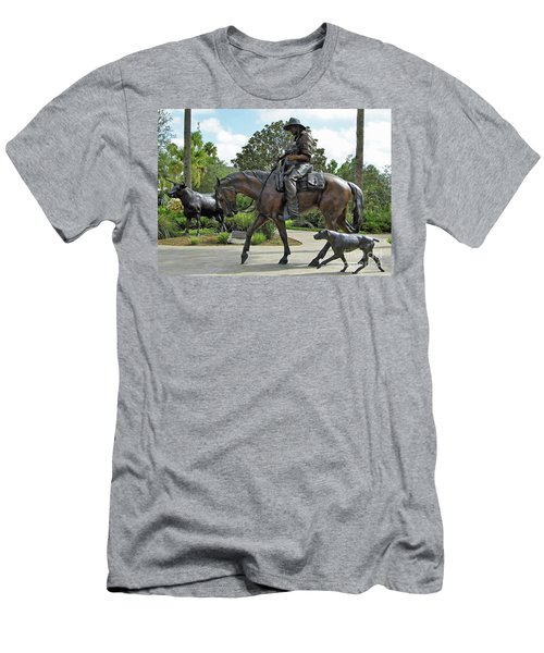 Cracker Cowboy And His Dog Men's T-Shirt (Athletic Fit)