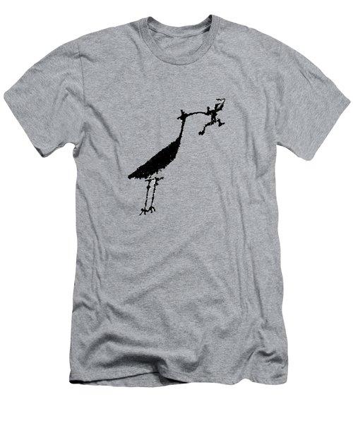 Crane Petroglyph Men's T-Shirt (Athletic Fit)