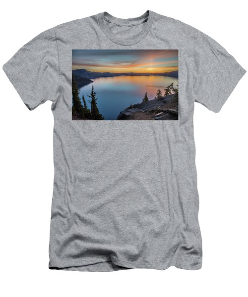 Crater Lake Morning No. 1 Men's T-Shirt (Athletic Fit)