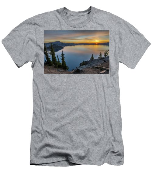 Crater Lake Morning No. 2 Men's T-Shirt (Athletic Fit)