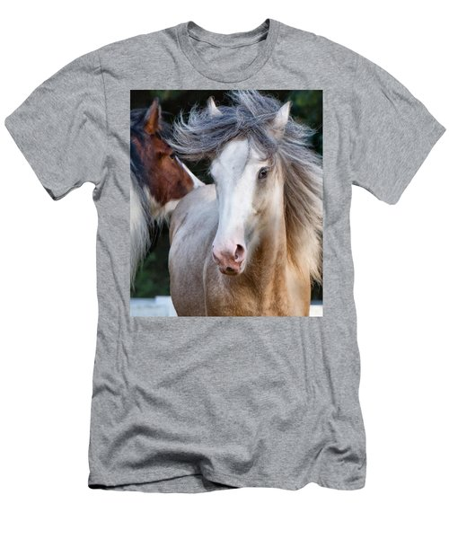 Men's T-Shirt (Slim Fit) featuring the photograph Crazy Hair by Sharon Jones