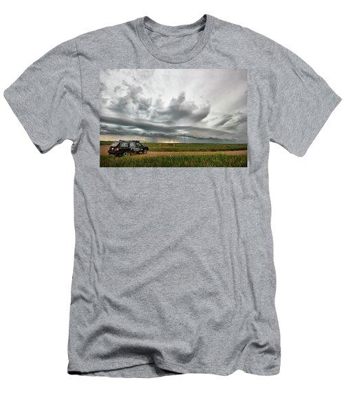 Crazy Shelf Cloud Near Ponteix Sk. Men's T-Shirt (Athletic Fit)
