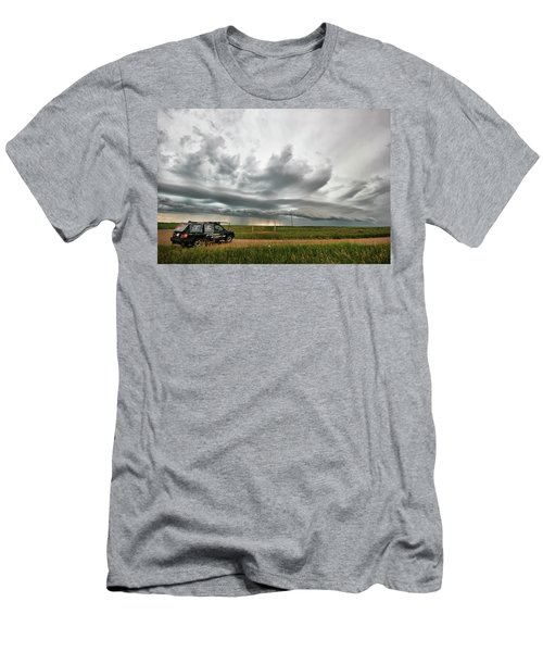 Crazy Shelf Cloud Near Ponteix Sk. Men's T-Shirt (Athletic Fit)