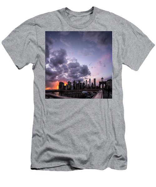 Men's T-Shirt (Athletic Fit) featuring the photograph Crepsucular Nights by Johnny Lam