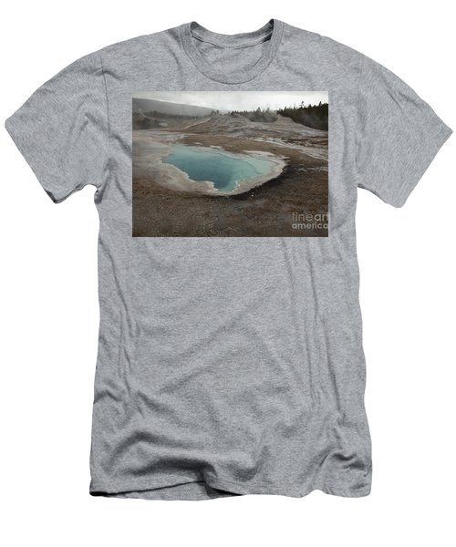 Crested Pool, Upper Geyser Basin, Yellowstone Men's T-Shirt (Athletic Fit)