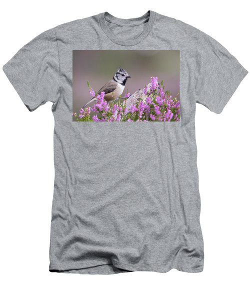 Crested Tit In Heather Men's T-Shirt (Athletic Fit)