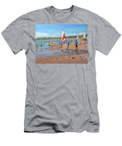 Cricket And Red And White Sail Men's T-Shirt (Athletic Fit)