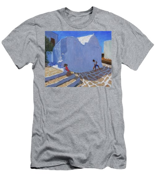 Cricket By The Church Wall, Mykonos  Men's T-Shirt (Athletic Fit)