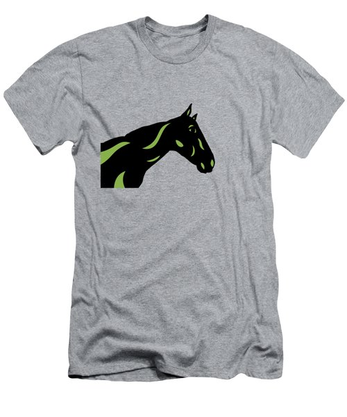 Crimson - Pop Art Horse - Black, Greenery, Purple Men's T-Shirt (Athletic Fit)