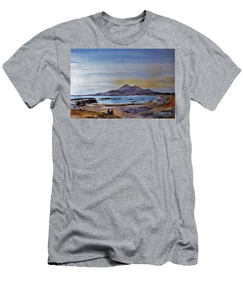 F801  Croagh Patrick From Old Head, Mayo Men's T-Shirt (Athletic Fit)
