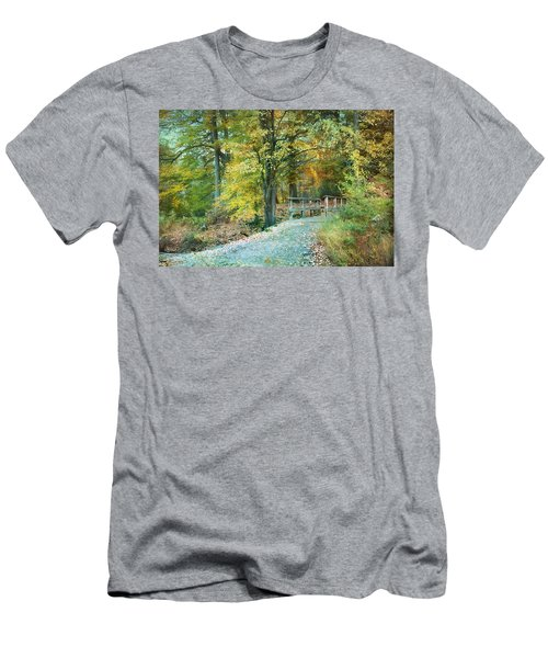 Cross Over The Wooden Bridge Men's T-Shirt (Athletic Fit)