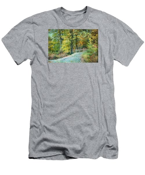 Cross Over The Wooden Bridge Men's T-Shirt (Athletic Fit)