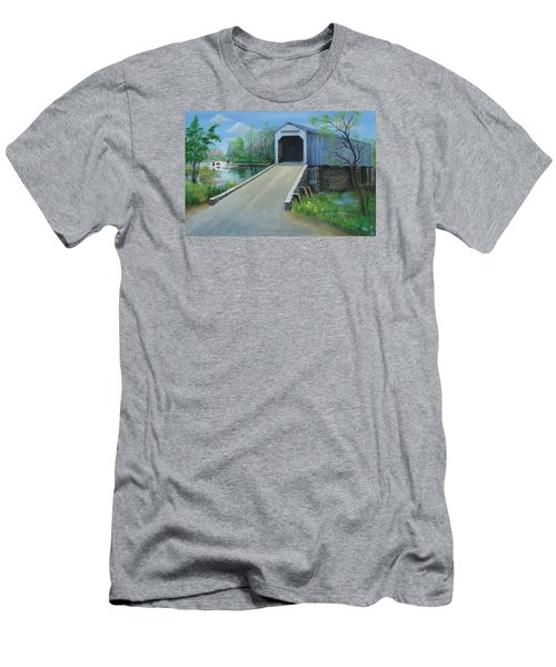 Crossing At The Covered Bridge Men's T-Shirt (Athletic Fit)