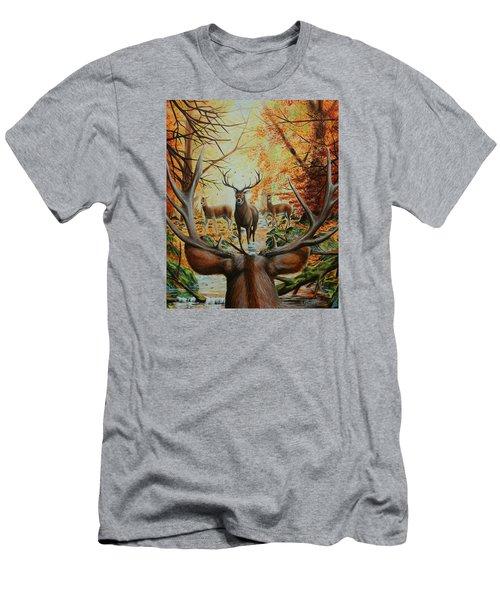 Crossing Paths Men's T-Shirt (Slim Fit) by Ruanna Sion Shadd a'Dann'l Yoder