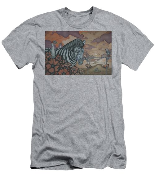 Crossing The Mara Men's T-Shirt (Slim Fit) by Andrew Batcheller