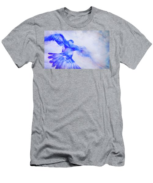 Men's T-Shirt (Slim Fit) featuring the photograph Crow In Flight by Theresa Tahara