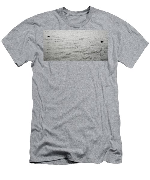 Crows In Flight Men's T-Shirt (Athletic Fit)