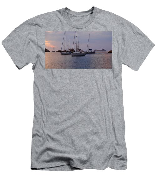 Cruise Liner Passing Men's T-Shirt (Athletic Fit)