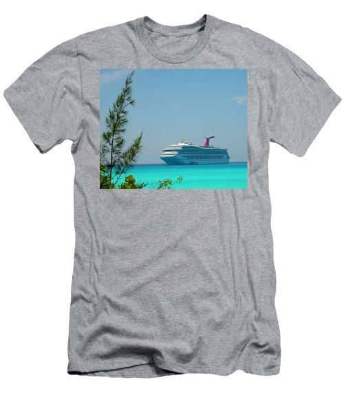 Cruise Ship At Half Moon Cay Men's T-Shirt (Athletic Fit)