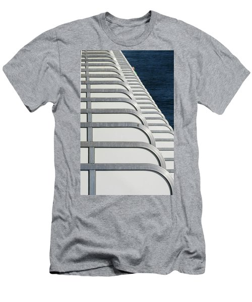 Cruise Ship's Balconies Men's T-Shirt (Athletic Fit)