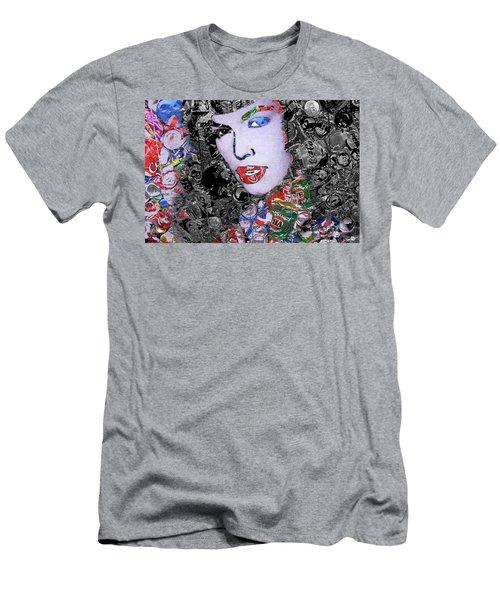 Bettie Page Crush Men's T-Shirt (Athletic Fit)