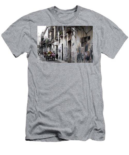 Cuban Flower Vendor Men's T-Shirt (Athletic Fit)