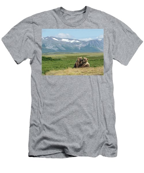 Cubs Playing On The Bluff Men's T-Shirt (Athletic Fit)