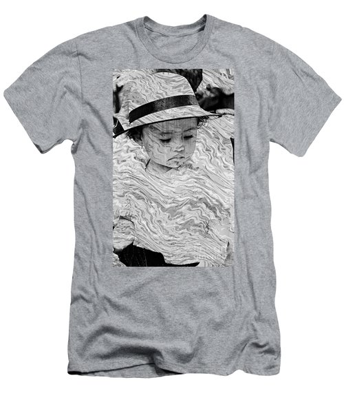 Men's T-Shirt (Slim Fit) featuring the photograph Cuenca Kids 894 by Al Bourassa