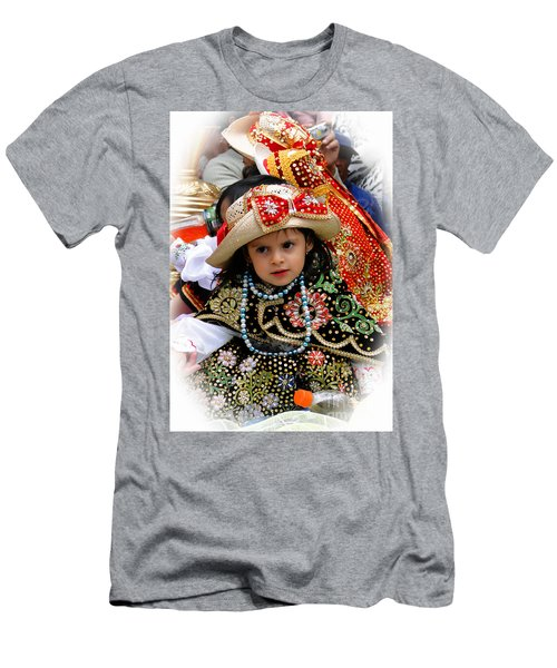 Men's T-Shirt (Slim Fit) featuring the photograph Cuenca Kids 900 by Al Bourassa
