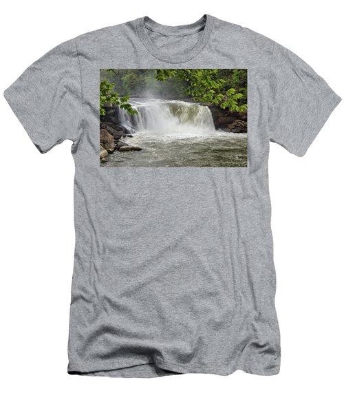 Cumberland Falls Close-up Men's T-Shirt (Athletic Fit)