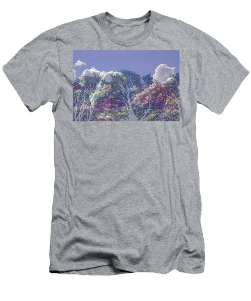 Men's T-Shirt (Athletic Fit) featuring the photograph Cumulus And Trees by Nareeta Martin