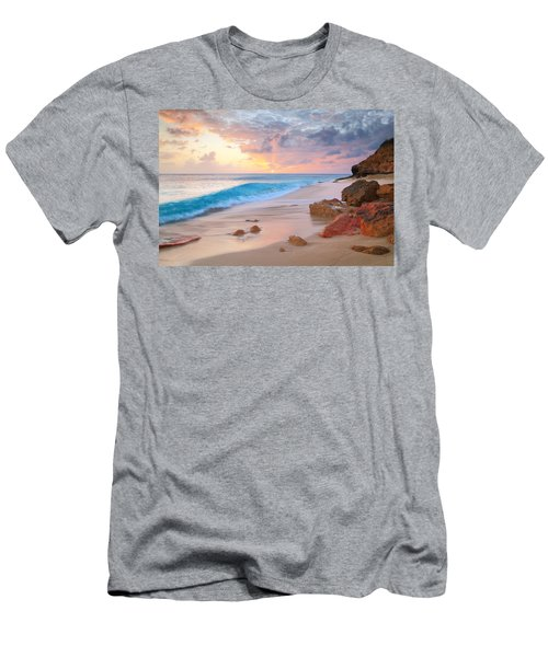 Cupecoy Beach Sunset Saint Maarten Men's T-Shirt (Athletic Fit)