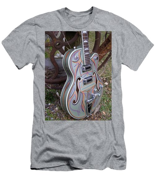 Custom Painted Giutar Men's T-Shirt (Athletic Fit)