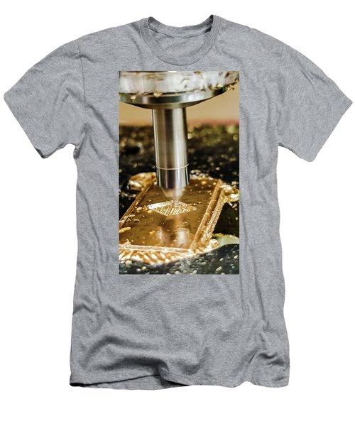 Cutting Brass Men's T-Shirt (Slim Fit) by Bruce Carpenter