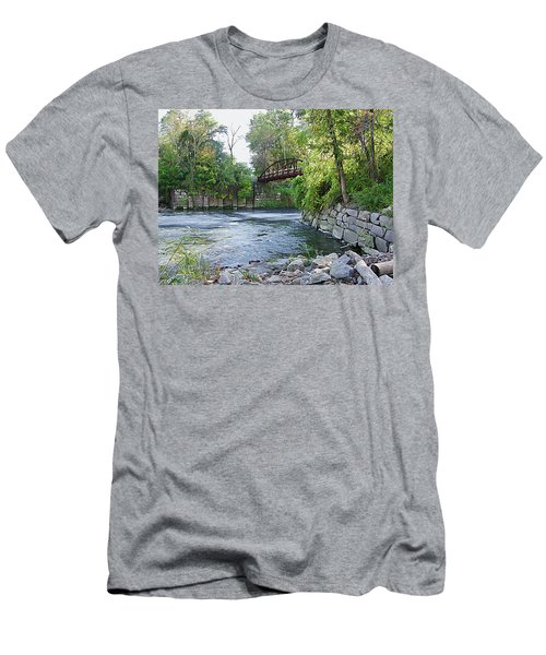 Cuyahoga River At Peninsula Men's T-Shirt (Athletic Fit)