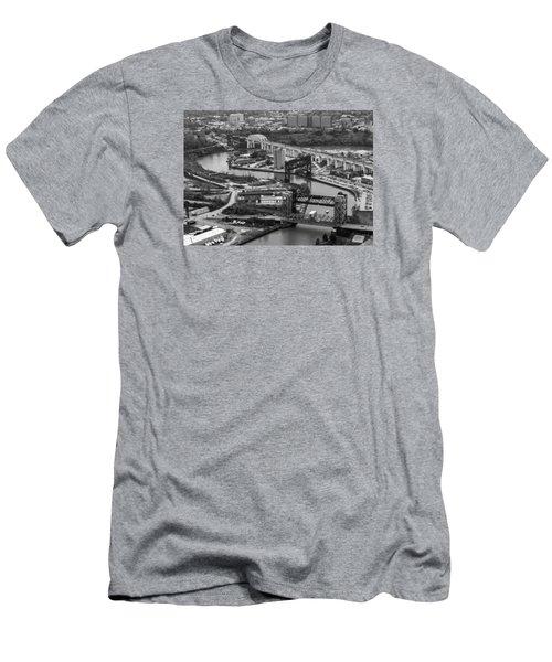 Cuyahoga River Men's T-Shirt (Athletic Fit)