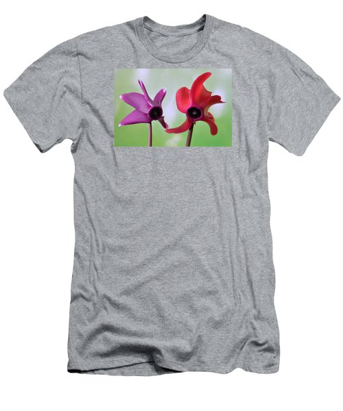 Cyclamen Duet. Men's T-Shirt (Slim Fit) by Terence Davis