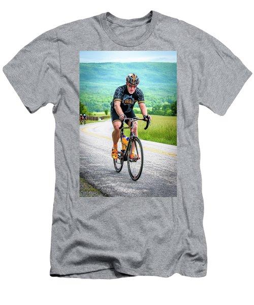 Cyclist Men's T-Shirt (Athletic Fit)