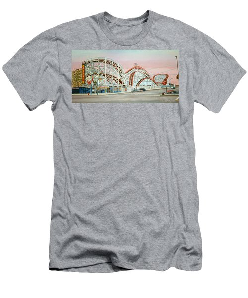 Cyclone Rollercoaster Coney Island, Ny Towel Version Men's T-Shirt (Athletic Fit)