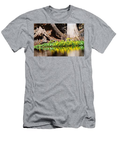 Cypress And Flower Reflections Men's T-Shirt (Athletic Fit)