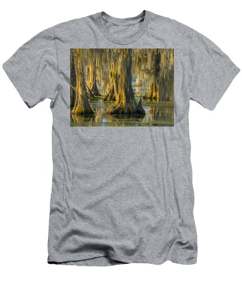 Cypress Canopy Uncovered Men's T-Shirt (Slim Fit) by Kimo Fernandez