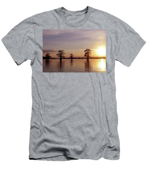 Cypress Sunset Men's T-Shirt (Slim Fit) by Sheila Ping