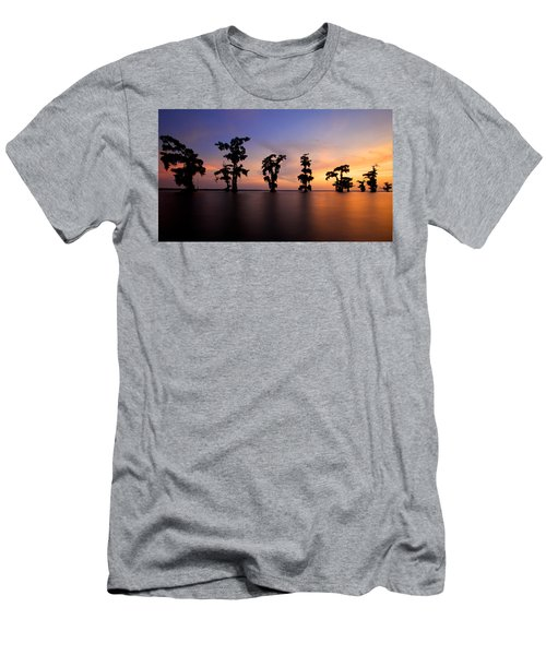 Cypress Trees Men's T-Shirt (Athletic Fit)