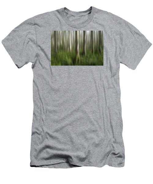 Cypress Tress Digital Abstracts Motion Blur Men's T-Shirt (Slim Fit) by Rich Franco