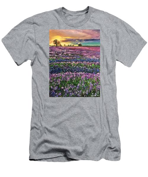 Men's T-Shirt (Slim Fit) featuring the painting D R E A M S by Belinda Low