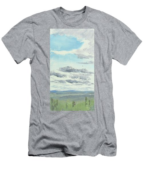 Dagrar Over Salenfjallen- Shifting Daylight Over Distant Horizon 10 Of 10_0029 Men's T-Shirt (Athletic Fit)